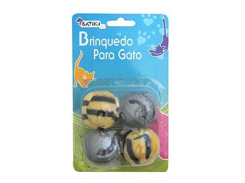 Brinquedo Gato 4 Bolas (4 Cm)