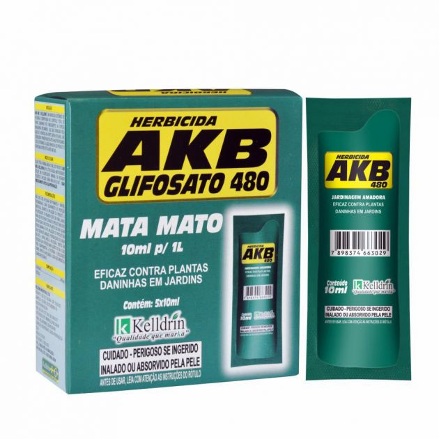 AKB Glifosato 480 Mata Mato (5 Sachês de 10ml)