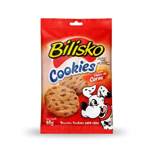 Bilisko Cookie Floco Carne 65g (Cx 15 Un)