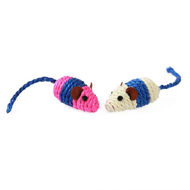 Brinquedo para Gatos Ratinhos em Sisal 7,5cm