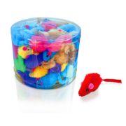 Brinquedo Ratinho Color Pelúcia - Pote c/ 60