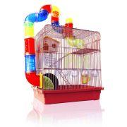 Gaiola Hamster Super Luxo Labirinto 3 Andares
