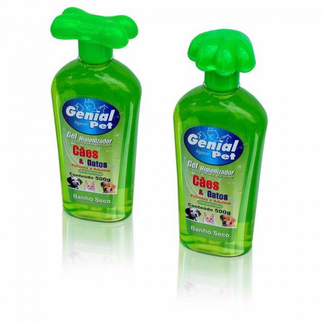 Gel Higienizador Genial Banho Seco (500ml)