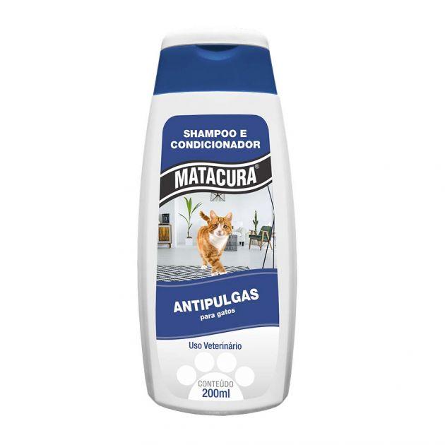 Shampoo Condicionador Antipulgas Gato Matacura