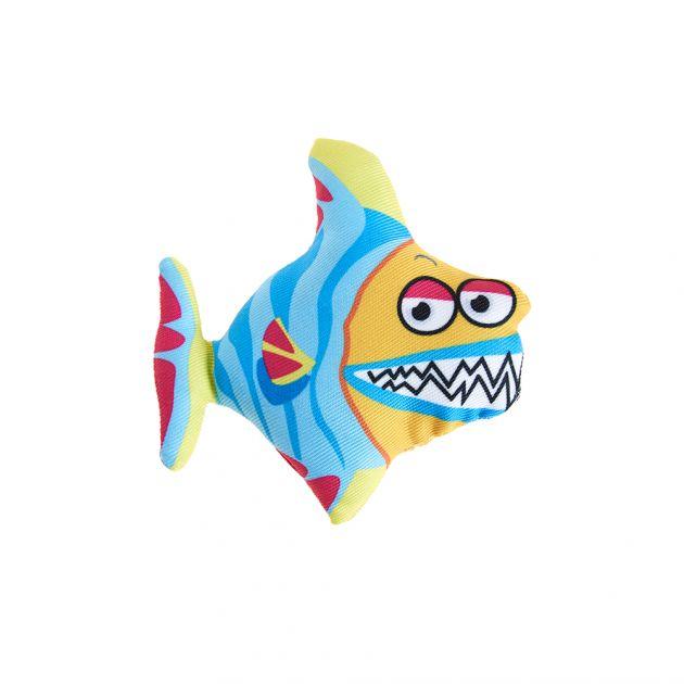 Tubarão Azul Nylon C/ Catnip 9cm