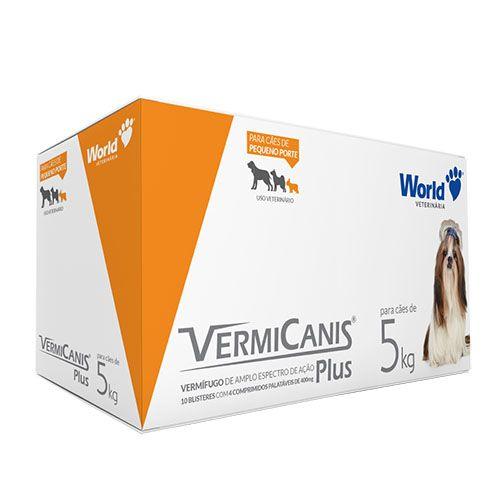 VermiCanis 400mg (5 kg) Display c/ 40 comp. | Vermífugo