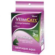 VermiCats 600mg (3 kg) Blister c/ 4 comp. | Vermífugo Gatos